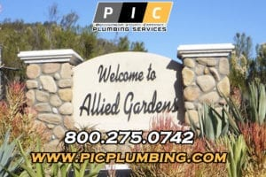 Plumbers in Allied Gardens California
