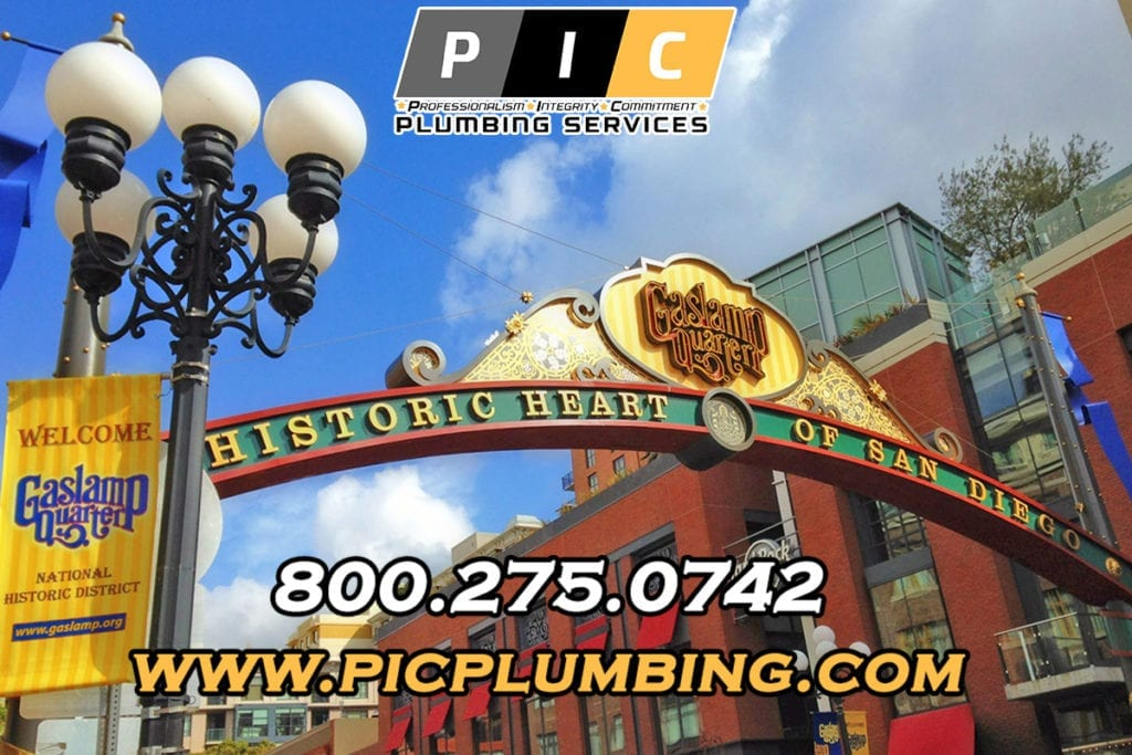 Plumbers in Gaslamp Quarter San Diego California