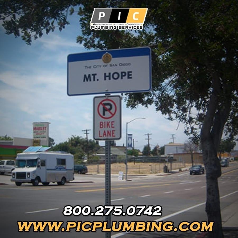 Plumbers in Mount Hope San Diego California