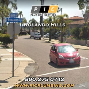 Plumbers in Rolando Hills San Diego California