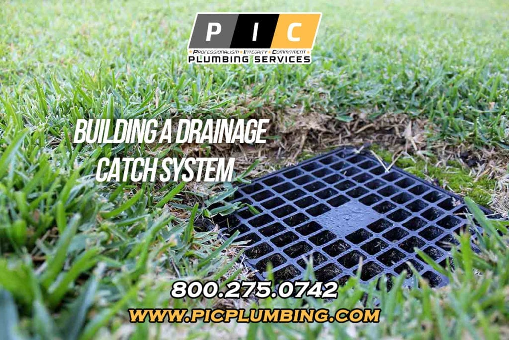 Installing a Drainage Catch System in San Diego California